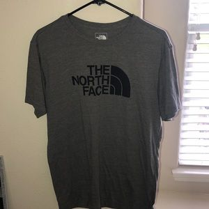 Men's Grey Large North Face tee